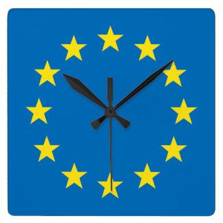 Relógio Quadrado A UE embandeira (o pulso de disparo de parede da