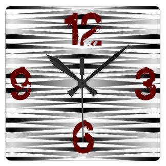 Relógio Quadrado A zebra branca projetou o pulso de disparo
