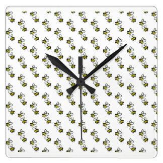 Relógio Quadrado Abelhas