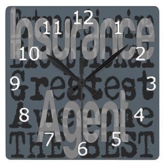Relógio Quadrado Agente de seguros Extraordinaire