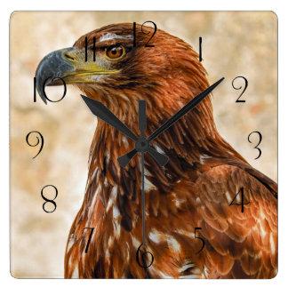 Relógio Quadrado Águia do savana