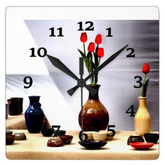 Relógio Quadrado Ainda vida