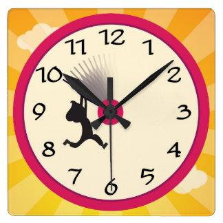 Relógio Quadrado Ajuste o pulso de disparo de parede do pulso de