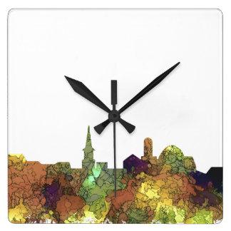 Relógio Quadrado Alexandria, skyline de Viirginia - SG - lustre do