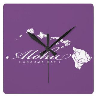 Relógio Quadrado Aloha ilhas de Havaí