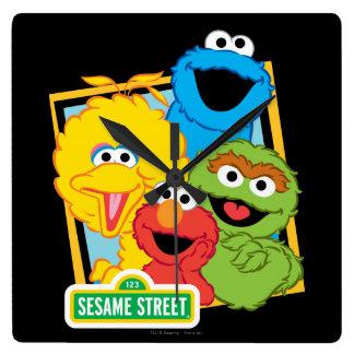 Relógio Quadrado Amigos do Sesame Street