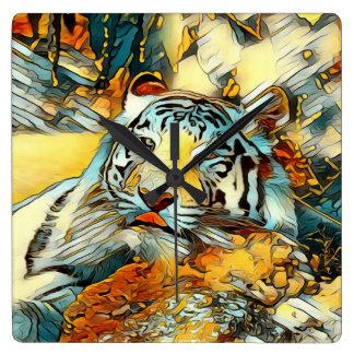 Relógio Quadrado AnimalArt_Tiger_20170603_by_JAMColors