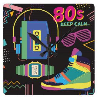 Relógio Quadrado anos 80