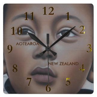 Relógio Quadrado aotearoa de Nova Zelândia