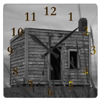 Relógio Quadrado aotearoa Nova Zelândia da cabine dos colonos