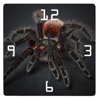 Relógio Quadrado Aranha assustador Arachnophobia do Tarantula