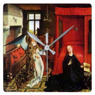 Relógio Quadrado Arcanjo Gabriel do ANJO do AVISO e Virgin