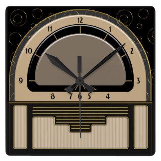 Relógio Quadrado Art deco Radiola (Latte, Greige, preto, ouro)