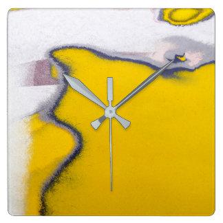 Relógio Quadrado Arte da pintura da casca do carro