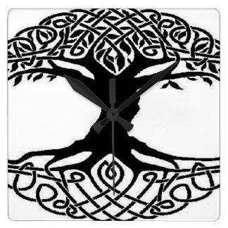 Relógio Quadrado Árvore de vida