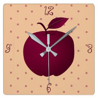Relógio Quadrado As bolinhas sensuais da menina romântica roxa de