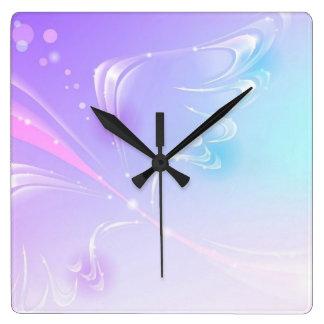 Relógio Quadrado Asa do brilho