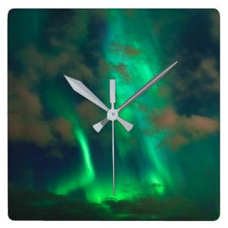 Relógio Quadrado Aurora boreal, Aurora Borealis