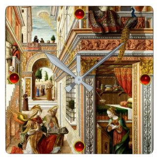 Relógio Quadrado Aviso, santo Emidius e um UFO