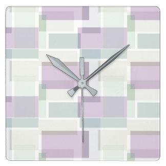 Relógio Quadrado Azul da lavanda para você