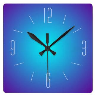 Relógio Quadrado Azul elegante pulso de disparo iluminado do design