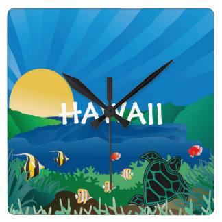 Relógio Quadrado Baía Havaí de Hanauma