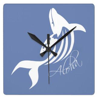 Relógio Quadrado Baleia de Havaí