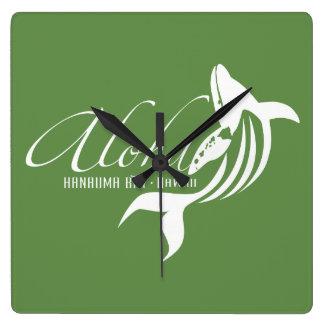 Relógio Quadrado Baleia de Havaí Aloha