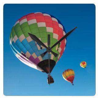 Relógio Quadrado Balões de ar quente
