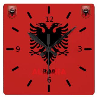 Relógio Quadrado Bandeira albanesa
