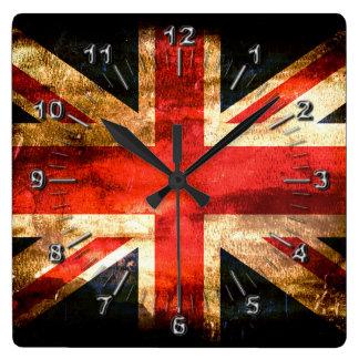 Relógio Quadrado Bandeira britânica clássica