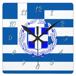 Relógio Quadrado Bandeira da piscina
