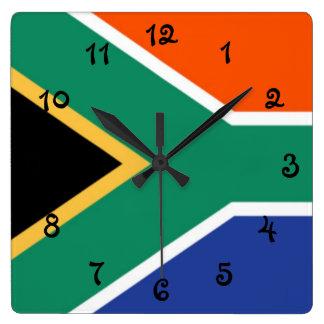 Relógio Quadrado Bandeira de África do Sul