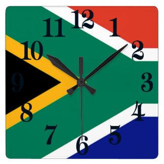 Relógio Quadrado Bandeira de África do Sul Bokke