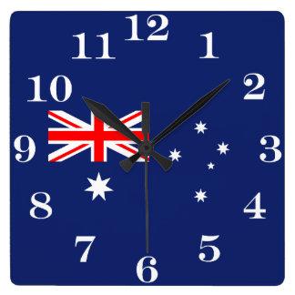 Relógio Quadrado Bandeira de Austrália