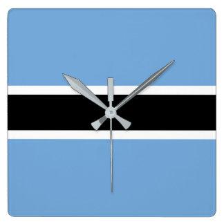 Relógio Quadrado Bandeira de Botswana