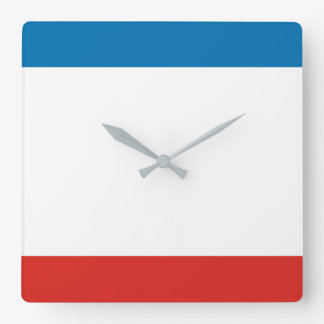 Relógio Quadrado Bandeira de Crimeia