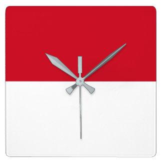 Relógio Quadrado Bandeira de Monaco