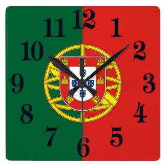 Relógio Quadrado Bandeira de Portugal
