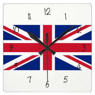 Relógio Quadrado Bandeira de Reino Unido Union Jack