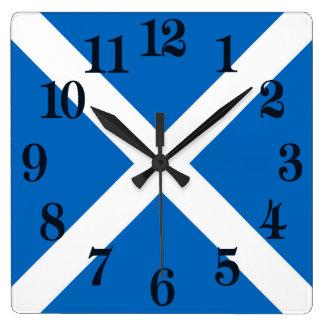 Relógio Quadrado Bandeira de Scotland ou de Saltire
