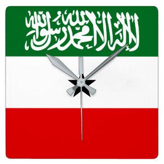 Relógio Quadrado Bandeira de Somaliland
