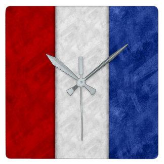 Relógio Quadrado Bandeira marítima do sinal náutico da aguarela do