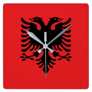 Relógio Quadrado Bandeira nacional do mundo de Albânia