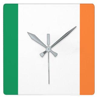 Relógio Quadrado Bandeira nacional do mundo de Ireland