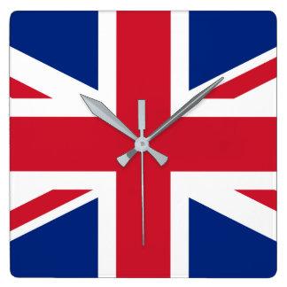 Relógio Quadrado Bandeira nacional do mundo de Reino Unido
