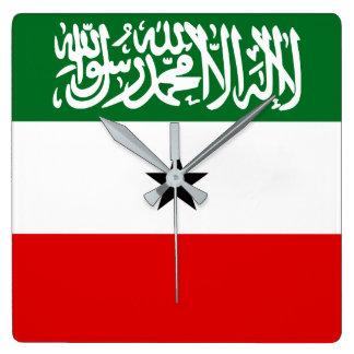 Relógio Quadrado Bandeira nacional do mundo de Somaliland