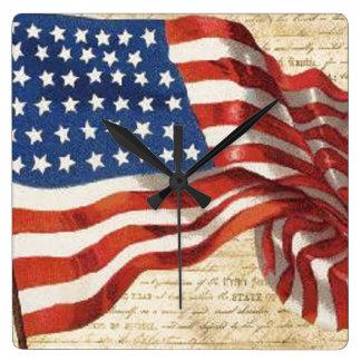 Relógio Quadrado Bandeira star spangled