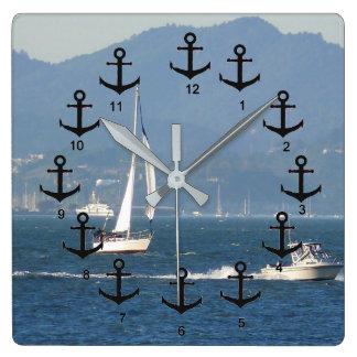 Relógio Quadrado Barco