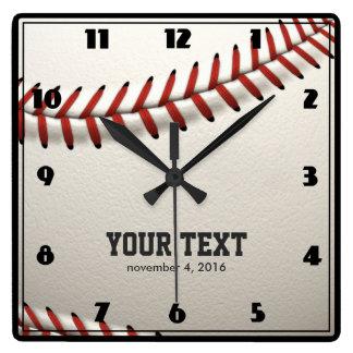 Relógio Quadrado Basebol